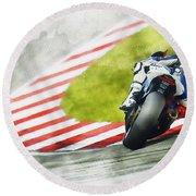 Jorge Lorenzo - Team Yamaha Racing Round Beach Towel