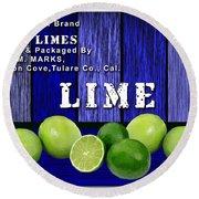 Lime Farm Round Beach Towel