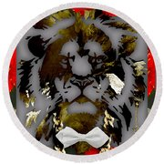 Lion Collection Round Beach Towel