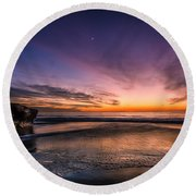 4 Mile Beach Sunset Round Beach Towel