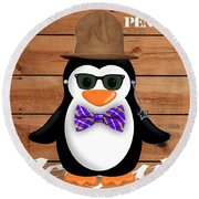 Peter Penguin Collection Round Beach Towel