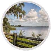 Philippe Park Round Beach Towel by Jane Luxton