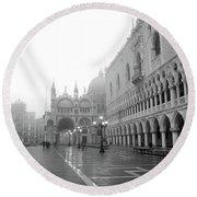 Saint Marks Square, Venice, Italy Round Beach Towel
