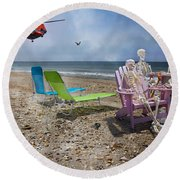 Search Party Round Beach Towel by Betsy Knapp