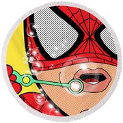 Spiderman  Round Beach Towel
