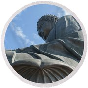 Tian Tan Buddha Round Beach Towel
