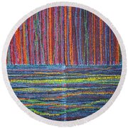 Untitled Round Beach Towel by Kyung Hee Hogg