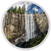 Vernal Falls Round Beach Towel