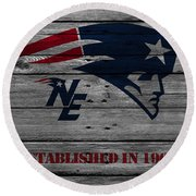 New England Patriots Round Beach Towel