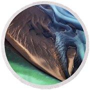 Iceland Aerial Photo Round Beach Towel