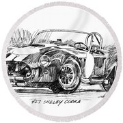 427 Shelby Cobra Round Beach Towel