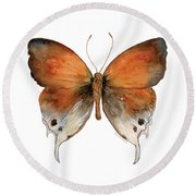 47 Mantoides Gama Butterfly Round Beach Towel