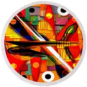 Abstract Art Collection Round Beach Towel by Marvin Blaine