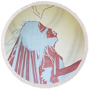 Baptism Of The Lord Jesus Round Beach Towel