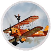 Breitling Wingwalkers Team Round Beach Towel