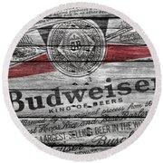 Budweiser Round Beach Towel