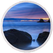 Round Beach Towel featuring the photograph Campelo Beach Galicia Spain by Pablo Avanzini