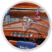 Chris Craft Sportsman Round Beach Towel