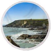 Cornish Seascape Gunwalloe Round Beach Towel