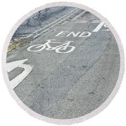 Cycle Path Round Beach Towel