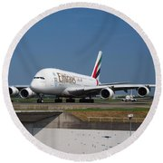 Emirates Airbus A380 Round Beach Towel