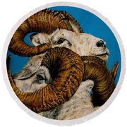 Horns Round Beach Towel