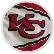 Kansas City Chiefs Uniform Round Beach Towel