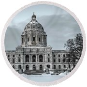 Minnesota State Capitol St Paul Round Beach Towel