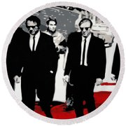 Reservoir Dogs Round Beach Towel by Luis Ludzska