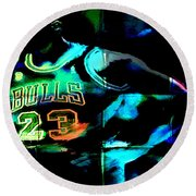 Round Beach Towel featuring the digital art 5 Seconds Left by Brian Reaves