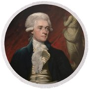 Thomas Jefferson - By Mather Brown Round Beach Towel