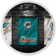 Miami Dolphins Round Beach Towel