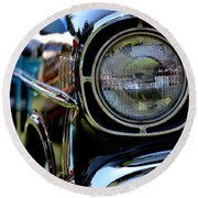 Round Beach Towel featuring the photograph 50's Chevy by Dean Ferreira