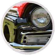 Round Beach Towel featuring the photograph 50's Ford by Dean Ferreira
