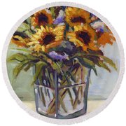 Summer Bouquet 4 Round Beach Towel