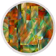 53 Doors Round Beach Towel by RC deWinter