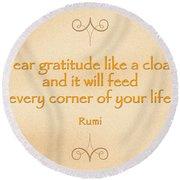 54- Rumi Round Beach Towel by Joseph Keane