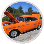 55 Chevy Belair Round Beach Towel