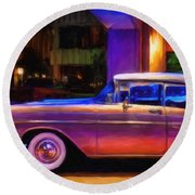 57 Bel Air Round Beach Towel