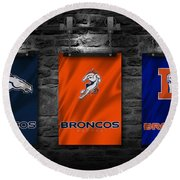 Denver Broncos Round Beach Towel