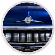 '57 Pontiac Safari Starchief Round Beach Towel