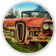 58 Edsel Round Beach Towel