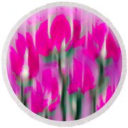 Round Beach Towel featuring the digital art 6 1/2 Flowers by Frank Bright