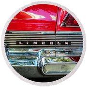 1957 Lincoln Premiere Coupe Painted  Round Beach Towel