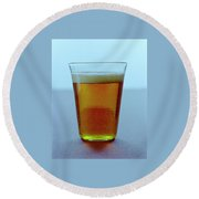 A Glass Of Beer Round Beach Towel