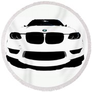 Round Beach Towel featuring the photograph BMW by J Anthony