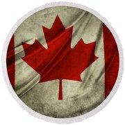Canadian Flag  Round Beach Towel