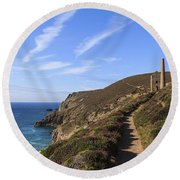 Chapel Porth Cornwall Round Beach Towel