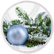 Christmas Ornaments Round Beach Towel