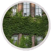 6 Ivy Windows Round Beach Towel by John McGraw